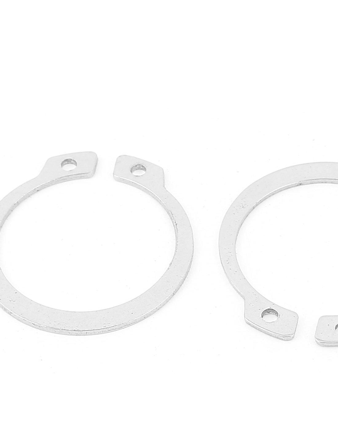 uxcell External Circlip Retaining Shaft Snap Clip Rings 30mm 10pcs