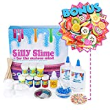 Homemade Slime Kit for kids with Ingredients & Supplies for Over 10 Recipes - Make Slime at home, How to Make Slime Glow in the Dark, Glitter Slime, Crunchy Slime, Goo, Putty and more
