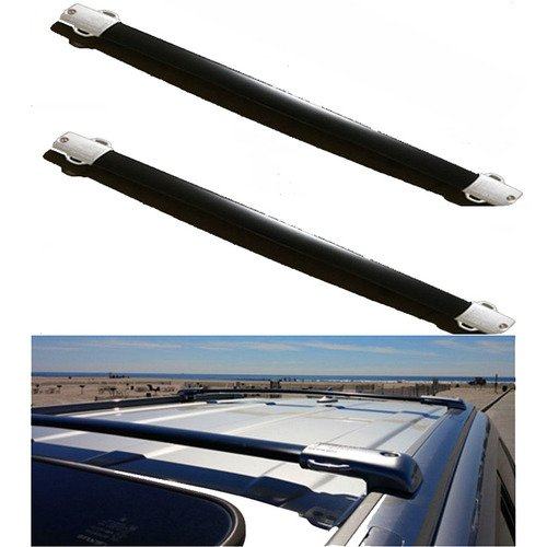 Install Instructions Steps in The Picture Nova for 13 14 15 16 17 Toyota RAV4 Black OE Style Roof Rack Cross Bars Set Luggage Pair Aluminum