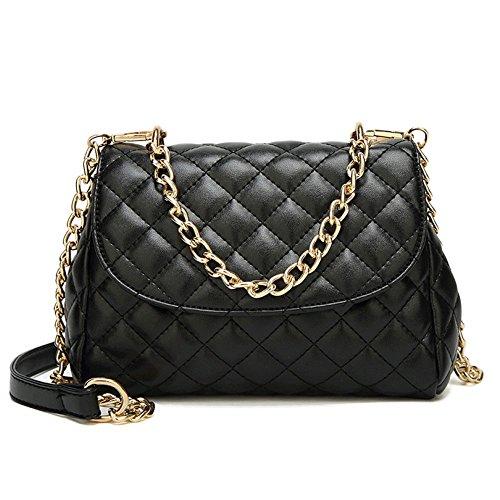 Bolso De Mano Lingge Para Mujer Crossbody Mini Bolso De Hombro Acolchado Pequeño Bolsa De Noche Clutch Clásica De Verano Black