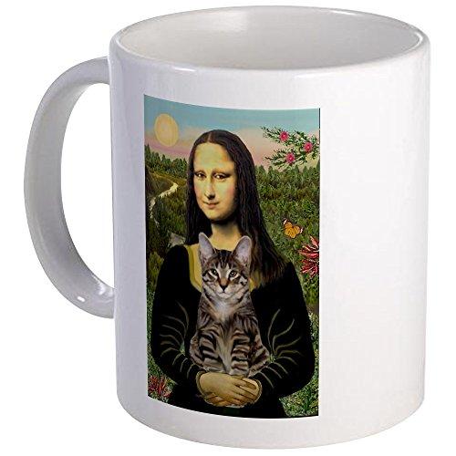 CafePress - Mona Lisa & Her Tiger Cat Mug - Unique Coffee Mug, Coffee Cup