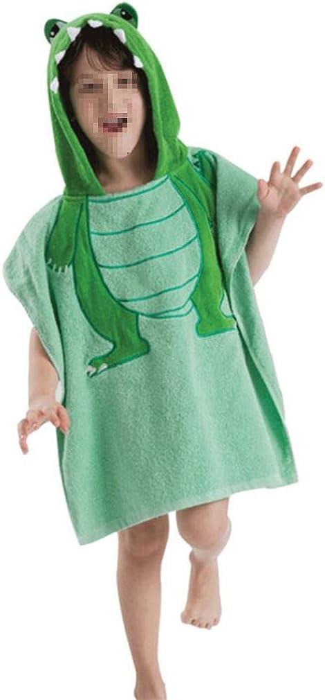 120CM mama stadt Hooded Beach Poncho Towels for Kids Boys Girls 100/% Cotton Bath Robe Swim Towel Beach Cape 60