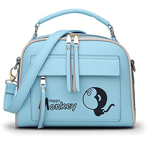FCZERO HB10044 PU Leather Handbag for Women,Personality Monkey Shoulder Bags - (Personalized Personality Travel Candles)
