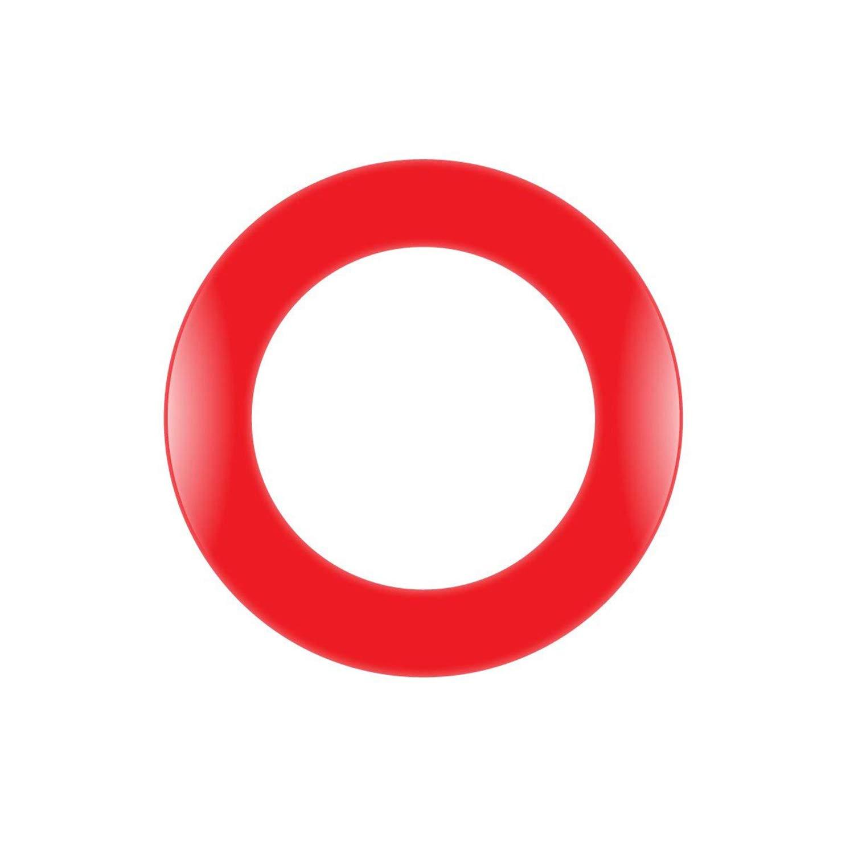 cyeelife sports-18in dart-boardサラウンドpu-one piece-protector backboards-red/ブラック B07F1V3RP7  Red-PU
