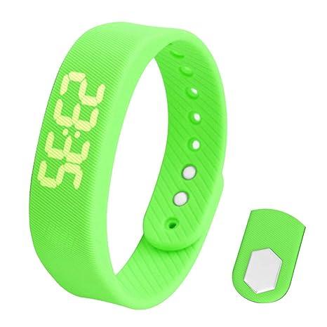 Hemobllo Smart Activity Band Fitness Tracker Reloj Digital LED a Prueba de Agua con Contador de