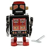 Homyl Old-fashioned Wind Up Tin Police Robot w/Key Clockwork Toy Collectable Black