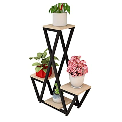 Excellent Amazon Com Flower Pot Display Stand Flower Stand Plant Customarchery Wood Chair Design Ideas Customarcherynet