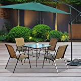 "VINGLI Outdoor Dining Table, 32"" Square Patio"