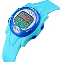 CakCity Kids Waterproof Digital Watch with Luminous Alarm Stopwatch (Light Blue)
