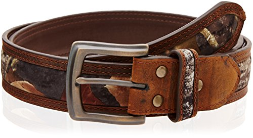 Nocona Belt Co. Men's Camo Center Inlay, Mossy Oak, 36