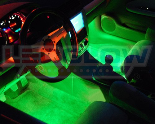 best gift ideas for boyfriend on christmas, LEDGlow 4-Piece 7 Color LED Interior Underdash Lighting Kit