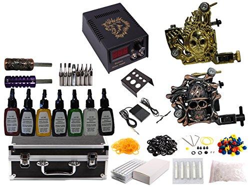 1tattooworld premium tattoo kit 2 handmade machine gun for Premium tattoo ink