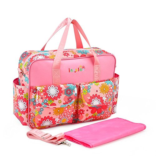 EUBUY Multi-functional Waterproof Mummy Handbag Baby Diaper Nappy Bag Chic Nappy Changing Bag Tote with Changing Mat, Adjustable Straps #1