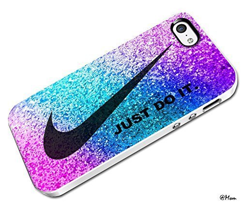 DCD - Just Do It Nike Pink Look Like Glitter Custom Case for Iphone 4 4s 5 5c 6 6plus (Iphone 5c white) (It Iphone Nike Just Do Case 5c)