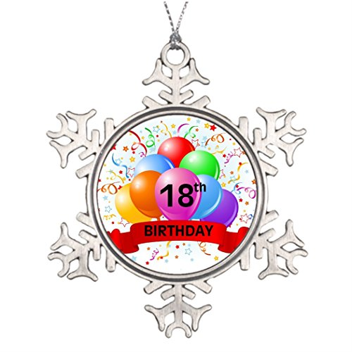 Tee popo Large Christmas Tree Snowflake Ornaments Balloons 18th Birthday Banner Balloons Waterford Snowflake Ornaments ()