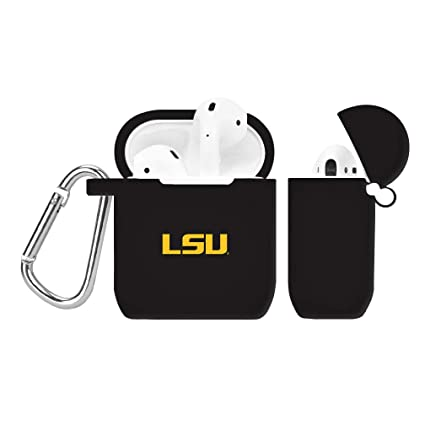 LSU Tigers Silicone Case Cover Compatible with Apple AirPod Case - Black
