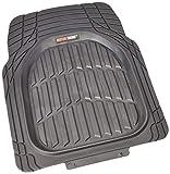 Motor Trend FlexTough Tortoise - Heavy Duty Rubber Floor Mats for Car SUV Van & Truck - All Weather Protection - Deep Dish (Black)