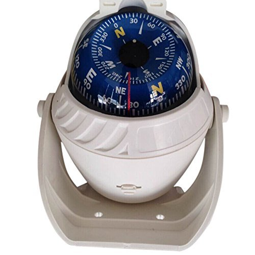 TOOGOO(R) Compass Big K LED Ball Compass Boat Compass Marine Compass Compass Compass Navigation White