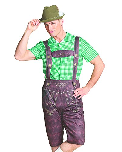Hyde and Eek Men's Oktoberfest Lederhosen Costume (Large) (Lederhosen Fancy Dress Costumes)