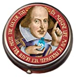 Shakespeare Pill Box - Compact 1 or 2 Compartment Medicine Case