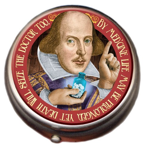 Shakespeare Pill Box - Compact 1 or 2 Compartment Medicine Case