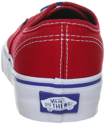 Authentic Vans Baskets Adulte Authentic Mixte rot Mode Rouge BAxBw