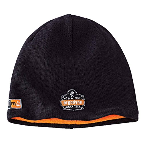 (Ergodyne N-Ferno 6820 Fire Resistant Thermal Knit Beanie Cap, Black)