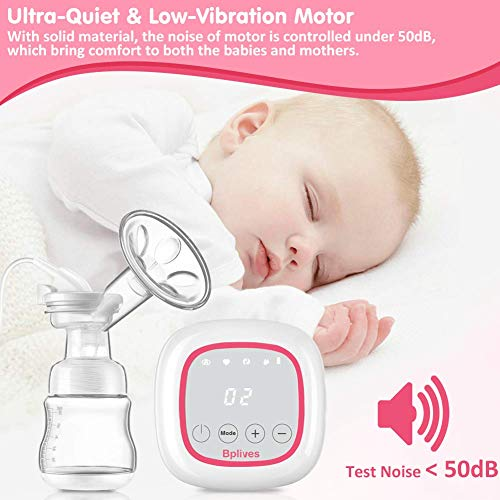 51hFU5Ip92L - Double Electric Breast Pump, Opoway Portable Breast Pump BPA-Free Automatic Breast Pump Rechargeable Breastfeeding Pump With Adjustable Massage And Suction Level, Backflow Protector