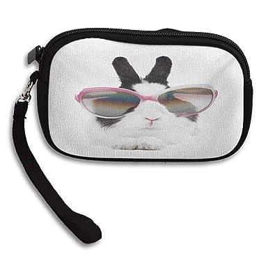 Amazon.com: Funny Coin Purse Little Rabbit in Sunglasses ...