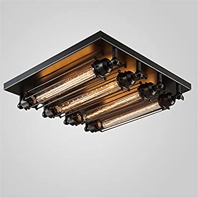 LightInTheBox Max 60W Flush Mount T30 Bulb Vintage Painting Feature Metal Ceiling Lighitng Lamp Fixture for Living Room / Bedroom / Dining Room / Kitchen