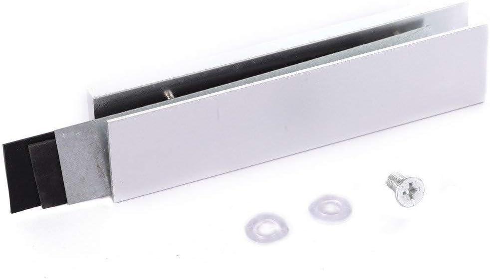 Aluminum Alloy U-shape Bracket For 180kg/350lbs Magnetic Lock Frameless Glass Door Home Improvement