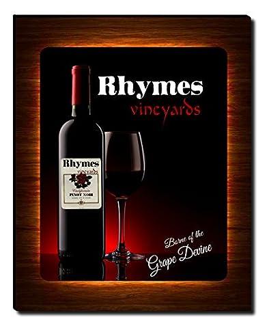 Rhymes's Vineyards Wine Gallery Wrapped Canvas Print (Cvs Rhymes)