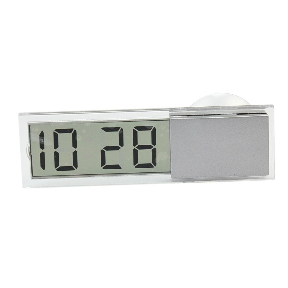 Automotive LCD Display Digital Clock with Sucker styleinside