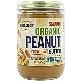 Woodstock Farms Organic Smooth Peanut Butter No Salt 16 Ounce