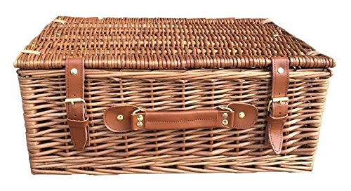 46cm Light Steamed Willow Basket by Red Hamper