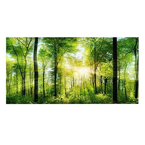 Fondo de Acuario Verde Bosque Reptil HD Papel Pintado Efecto 3D Adhesivo Fondo Decoración de Pared para Tanque de Peces(122...