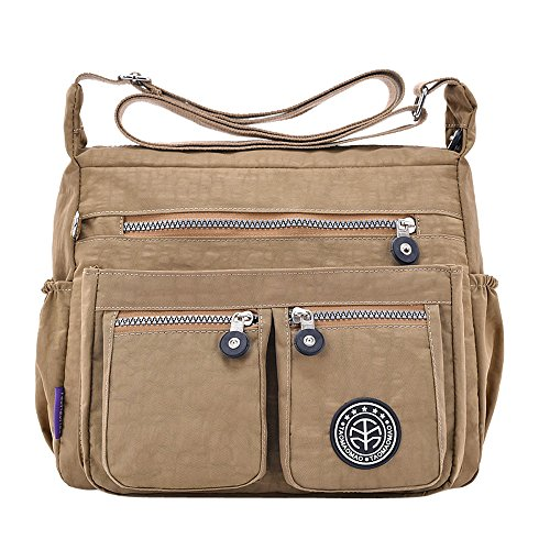 Logobeing Cheap Casual Shoulder Bags Travel Handbag Shoulder Bag Crossbody Bags Gray Khaki