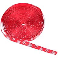 Amazon gift wrap ribbons health household tinksky christmas ribbon snowflake thin ribbon for gift packing wrapping 1cm wide 20m long red negle Images