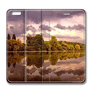 iPhone 6 Case, iPhone 6 Leather Case, Fashion Protective PU Leather Slim Flip Case [Stand Feature] Cover for New Apple iPhone 6(4.7 inch) - Neckar River