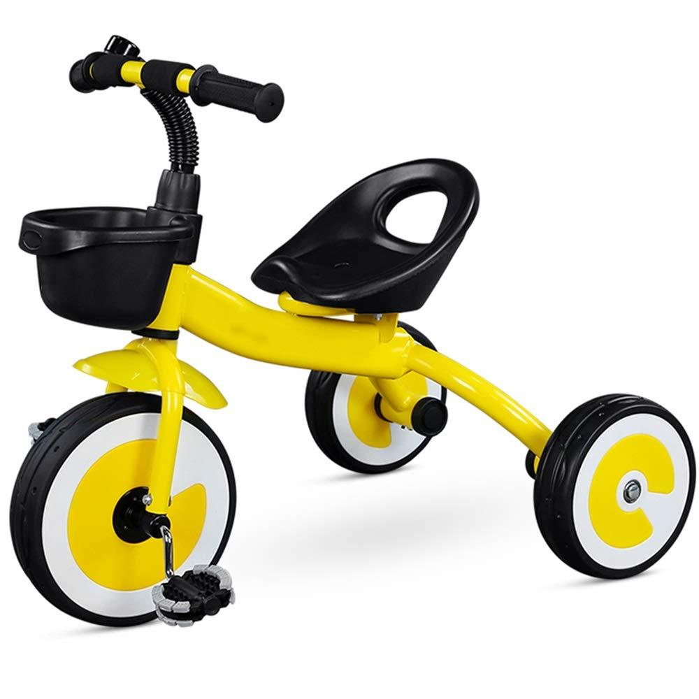 見事な Axdwfd イエロー 子ども用自転車 子供三輪車2-5歳の男の子女の子三輪車、with10インチホイールは男の子と女の子のためのギフトです 子ども用自転車 イエロー Axdwfd いえろ゜ B07PYK3D61, 室蘭市:3f43d561 --- senas.4x4.lt