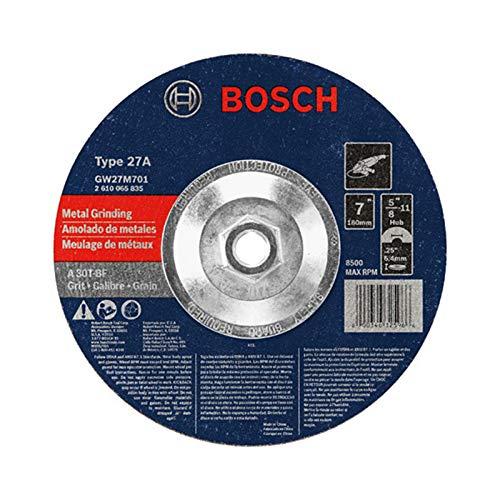 Bosch GW27M701 Type 27 Metal Grinding Wheel, 7-Inch 1/4 by 5/8-11-Inch Arbor (Pack of 1) - Wheel Bosch Grinding