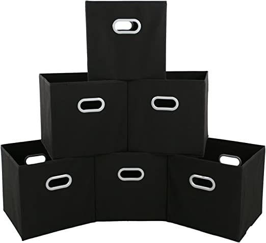 SONGMICS Storage Bins Cubes Baskets Containers with Dual Non ...