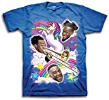 New Day Unicorn Francesca Rainbow WWE Mens Blue T-shirt-XXL