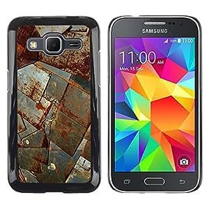 Paccase / SLIM PC / Aliminium Casa Carcasa Funda Case Cover para - Sheet Metal Rust Ship Corrosion Construction - Samsung Galaxy Core Prime SM-G360