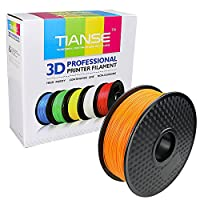 TIANSE Orange PLA 3D Printer Filament 1.75mm 1KG Spool Filament for 3D Printing, Dimensional Accuracy +/- 0.03 mm by TIANSE