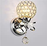 Elitlife Modern Crystal Wall Lights 110-220v Max 40W Wall Sconce Lighting Indoor Silver for Bedside Lamp Stair Lamp Wall Sconce Living Room