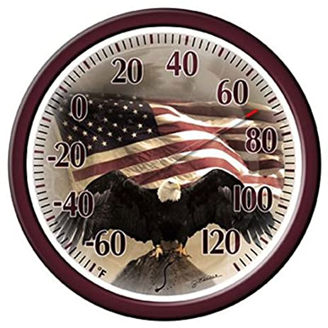 Great Springfield Bald Eagle Low Profile Patio Thermometer (13.25 Inch)