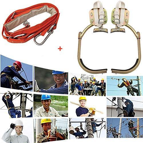 ツリークライミングスパイクセット、ツリークライミングツール、安全ベルト調整可能なストラップロープ救助ベルト、ポールクライミングツリーアーティファクト、狩猟観察用、果物狩り、使いやすい,250type