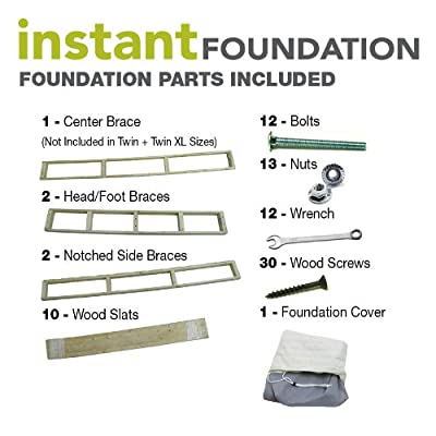 Classic Brands Instant Foundation for Bed Mattress, Easy To Assemble Box Spring
