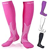 Compression Knee High Socks Pink S/M